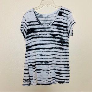 Calvin Klein | Black & White Striped Tee